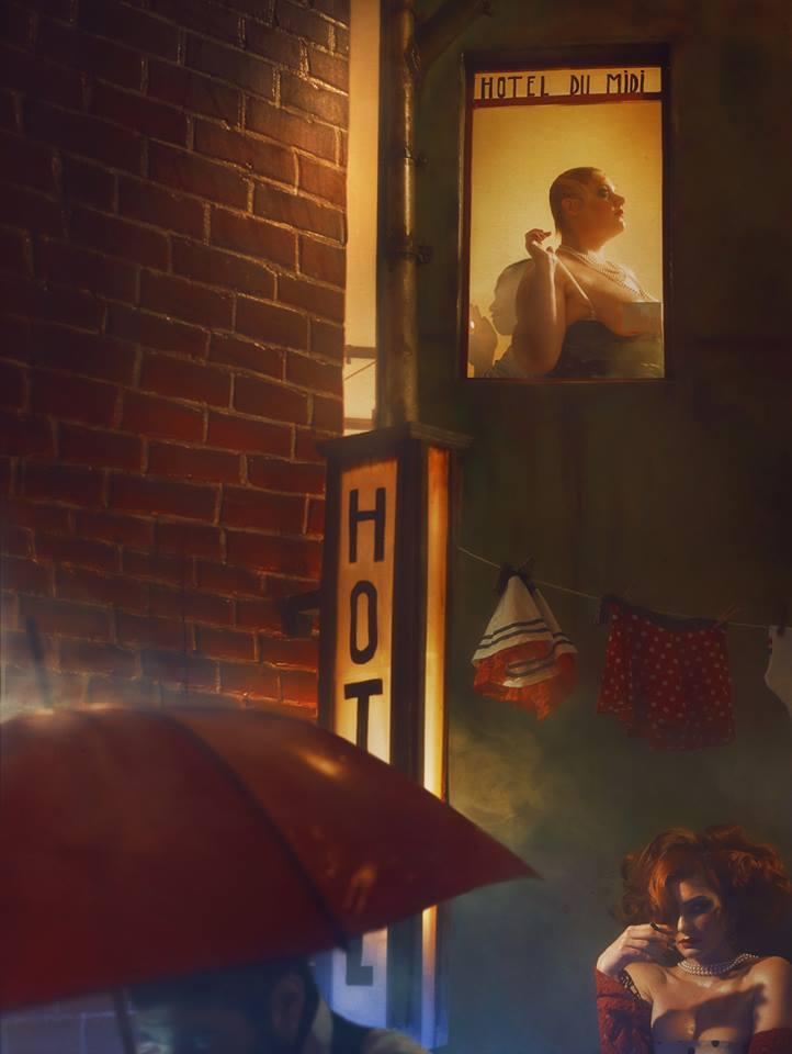 Hotel du Midi Photographe et décors © Le Turk - Fabriqué et shooté chez Nath-Sakura au studio B612 - Assistant : Benjamin Rinaldi - Coiffeur © Christophe Pujol - Modèles : Miss Delph et Leya